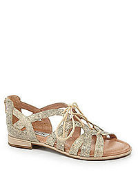 flache Sandalen aus Leder