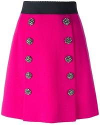 fuchsia A-Linienrock von Dolce & Gabbana
