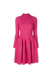 fuchsia ausgestelltes Kleid von Ermanno Scervino