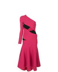 fuchsia ausgestelltes Kleid von Proenza Schouler