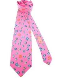 fuchsia bedruckte Krawatte