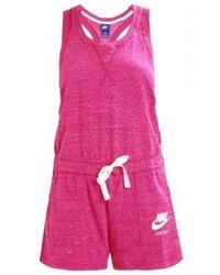 fuchsia bedruckter kurzer Jumpsuit von Nike