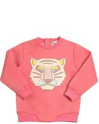 fuchsia bedruckter Pullover