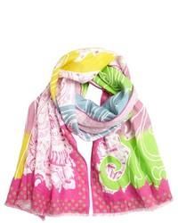 fuchsia bedruckter Schal