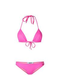 fuchsia Bikinioberteil von MSGM
