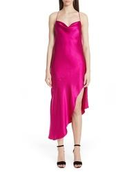 fuchsia Camisole-Kleid aus Satin