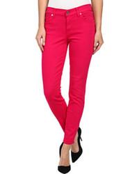 fuchsia enge Jeans