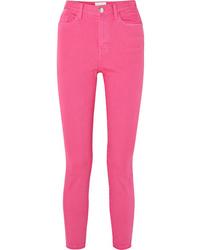 fuchsia enge Jeans von Current/Elliott