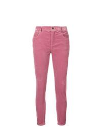 fuchsia enge Jeans von Miu Miu