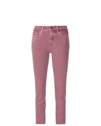 fuchsia enge Jeans von Paige