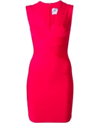 fuchsia figurbetontes Kleid