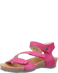fuchsia flache Sandalen aus Leder von Think!