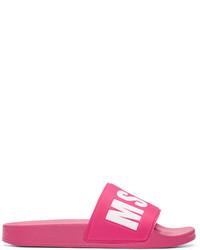 fuchsia flache Sandalen von MSGM