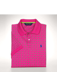 fuchsia gepunktetes Polohemd