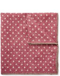 fuchsia gepunktetes Wolleinstecktuch von Brunello Cucinelli