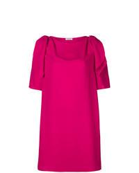 fuchsia gerade geschnittenes Kleid