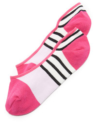 fuchsia horizontal gestreifte Socken von Kate Spade