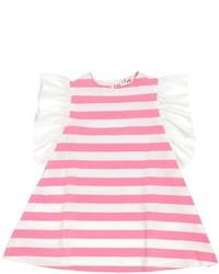 fuchsia horizontal gestreiftes Kleid