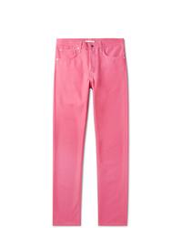fuchsia Jeans von Helmut Lang