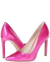 fuchsia Leder Pumps