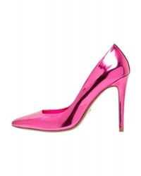 Fuchsia Leder Pumps von Dune London