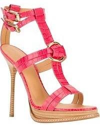 fuchsia Leder Sandaletten von Dsquared2