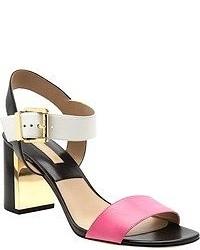 fuchsia Leder Sandaletten von Michael Kors
