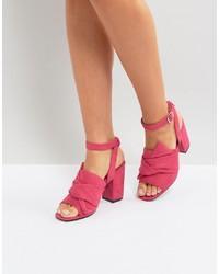 fuchsia Leder Sandaletten von Park Lane