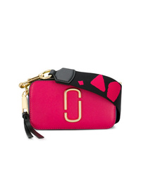fuchsia Leder Umhängetasche von Marc Jacobs