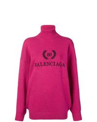 fuchsia Oversize Pullover von Balenciaga