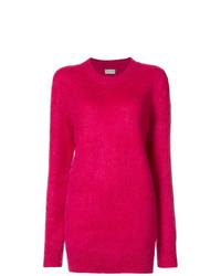 fuchsia Oversize Pullover von Saint Laurent
