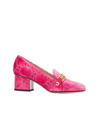 fuchsia Samt Pumps