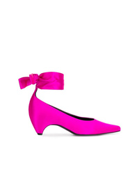 fuchsia Satin Pumps von Stella McCartney