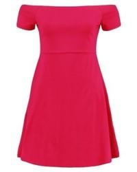 fuchsia schulterfreies Kleid von Even&Odd