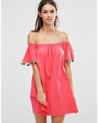 fuchsia schwingendes Kleid von Asos