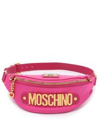 fuchsia Segeltuch Bauchtasche von Moschino