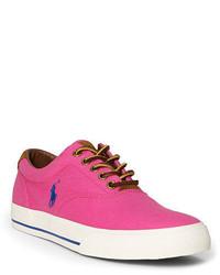 fuchsia Segeltuch niedrige Sneakers