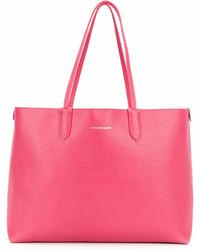 fuchsia Shopper Tasche aus Leder