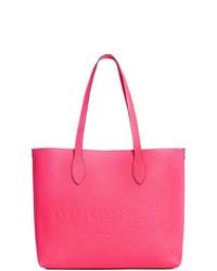 fuchsia Shopper Tasche aus Leder von Burberry