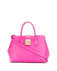 fuchsia Shopper Tasche aus Leder von Furla