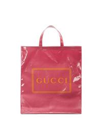 fuchsia Shopper Tasche aus Leder von Gucci