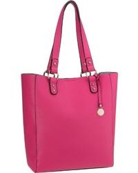 fuchsia Shopper Tasche aus Leder von L.Credi