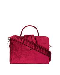 fuchsia Shopper Tasche aus Leder von Mehry Mu