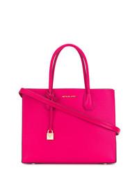fuchsia Shopper Tasche aus Leder von MICHAEL Michael Kors