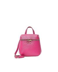 fuchsia Shopper Tasche aus Leder von myMo