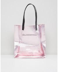 fuchsia Shopper Tasche aus Leder von Skinnydip
