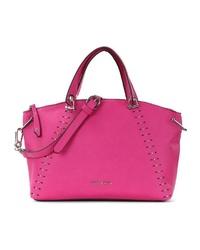 fuchsia Shopper Tasche aus Leder von SURI FREY