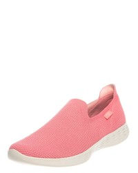 fuchsia Slip-On Sneakers von Skechers