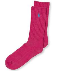 fuchsia Socken