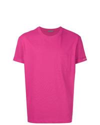 fuchsia T-Shirt mit einem Rundhalsausschnitt